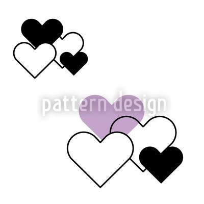 Himmlische Herzen Designmuster