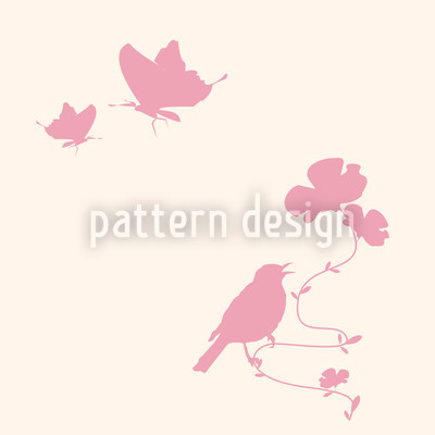 Animals In Spring Pink Seamless Pattern