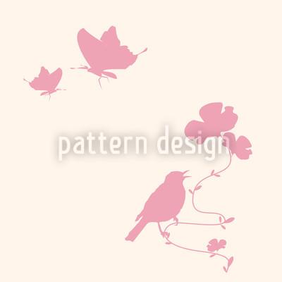Animals In Spring Pink Seamless Pattern