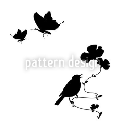 Animals in Spring Vector Pattern