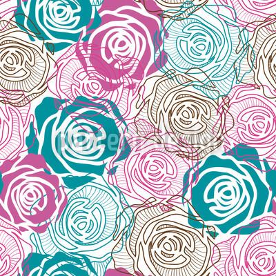 Rosenträume Vektor Ornament