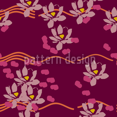 Lotus Liebe Bordeaux Pattern Design