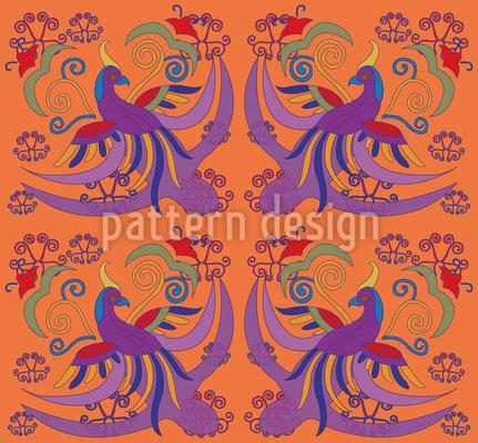 Paradiesvogel Musterdesign