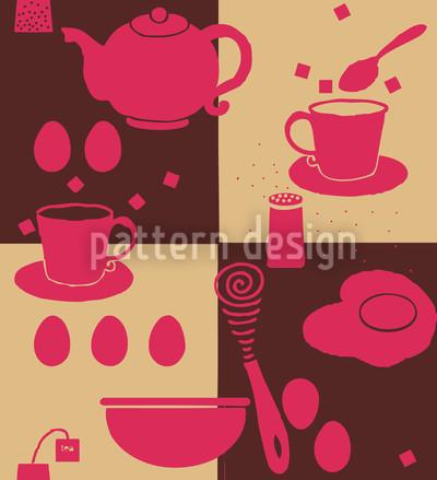 Breakfast Table Seamless Pattern