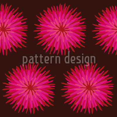Dahlia Pink Repeating Pattern