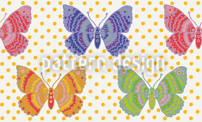 Schmetterlingsfantasie Rapportmuster