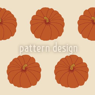 Zierkürbis Orange Rapportiertes Design