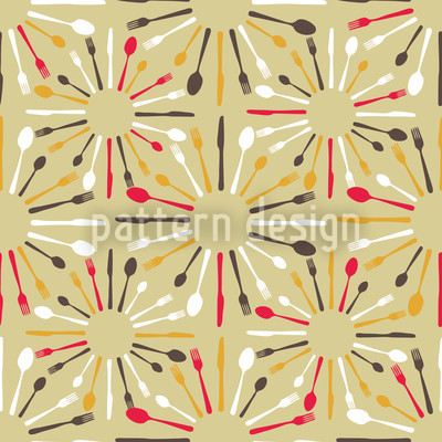 Place Setting Vector Pattern