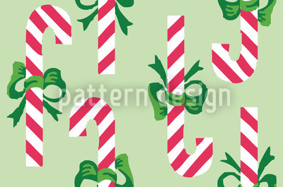 Candy Canes Mint Green Vector Design