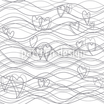 Heart Lenghts White Design Pattern