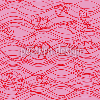 Wavelenghts Pink Seamless Pattern