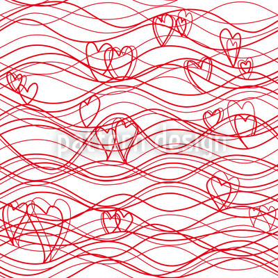 Wave Lenghs Ahead Vector Pattern