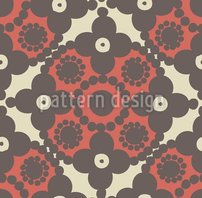 Gris Pomp Muster Design