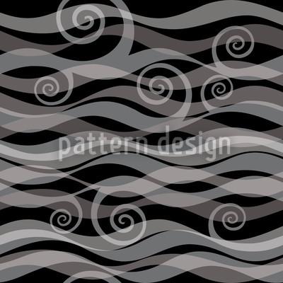 Triton Black Seamless Vector Pattern