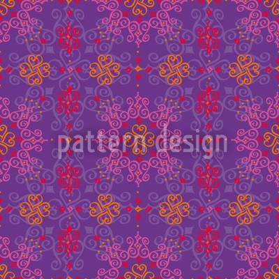 Orientalia Romantisch Rapportiertes Design