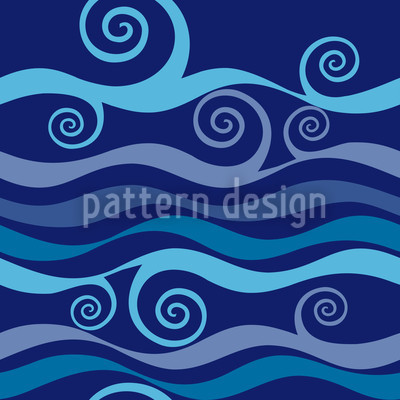Triton Blau Musterdesign