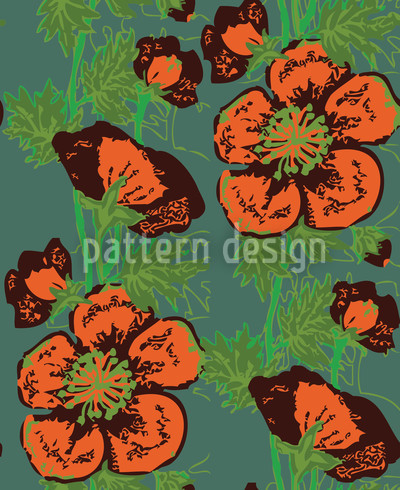 Poppy Addiction Vector Pattern