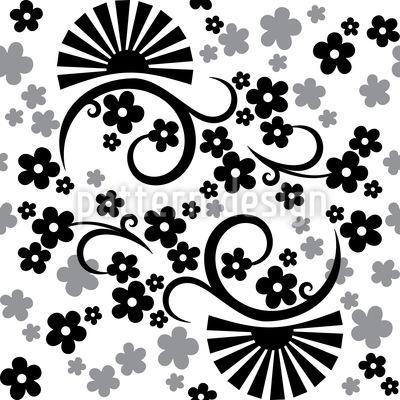 Eastern Magic White Pattern Design
