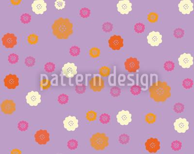 Niedliche Blüten Muster Design