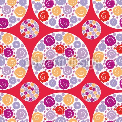 Flower Bouquet Red Pattern Design