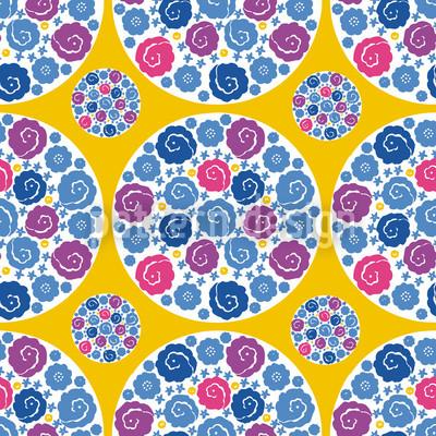 Blumen Bouquet Gelb Designmuster