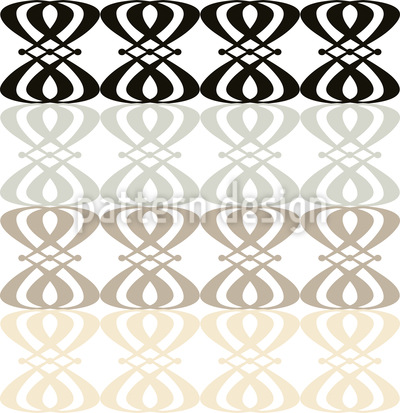 Neutral Nouveau Pattern Design