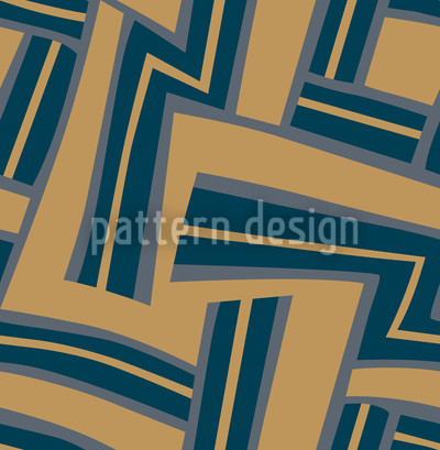 Maze Blue Seamless Vector Pattern