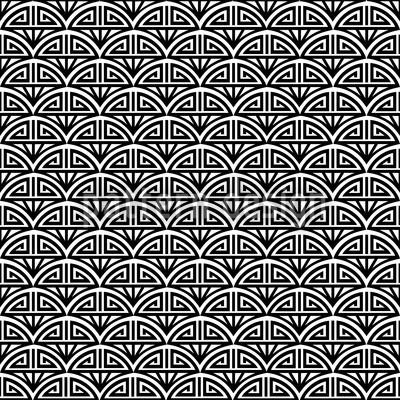 Samurai Black And White Design Pattern