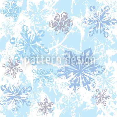 Sibiria Blau Nahtloses Muster