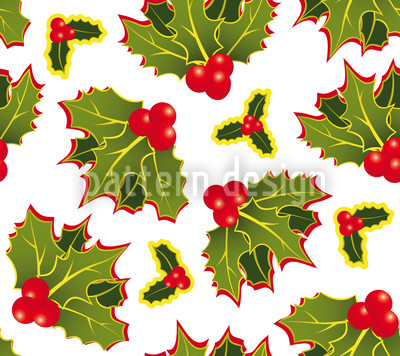 Holly Repeating Pattern