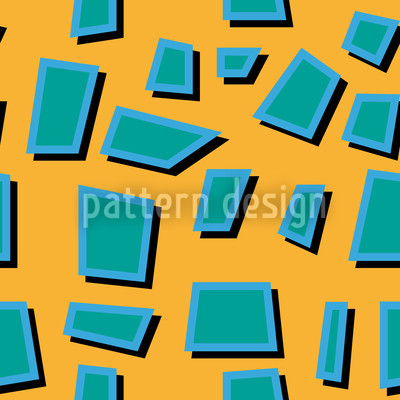 Turquoise Trapezoids Design Pattern