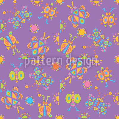 Kribbel Krabbel Violett Vektor Muster