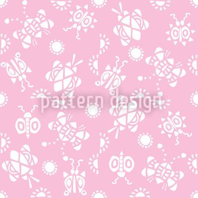 Kribbel Krabbel Pink Rapportiertes Design