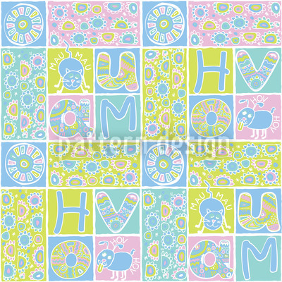 Patchwork Pets Repeat Pattern