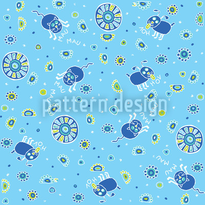 Playful Pet Babies Vector Ornament