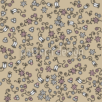 Sea Of Blossoms On Sand Vector Design