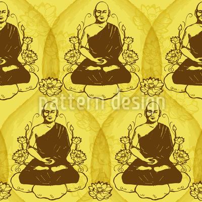Erleuchtender Buddha Nahtloses Muster