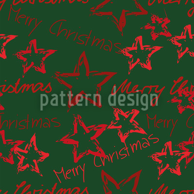 Merry Christmas Green Pattern Design
