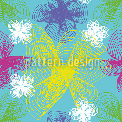 Spiral Flowers Seamless Pattern