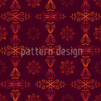 Renaissance Crystal Red Pattern Design
