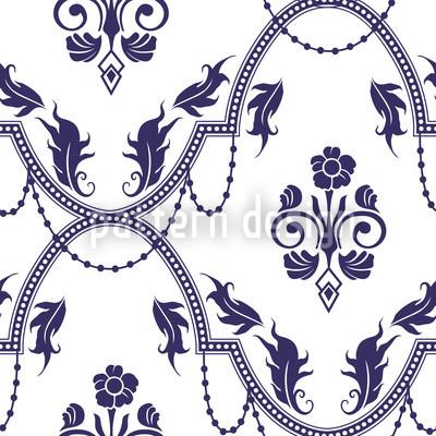 Rocko Blau Vektor Ornament