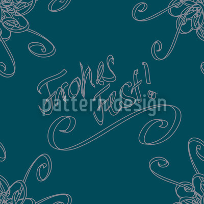 Holy Days Petrol Vector Pattern