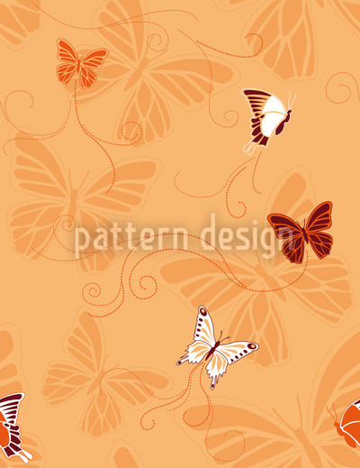Butterflies Orange Repeat