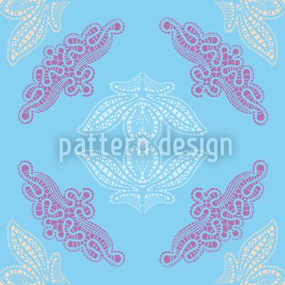 Lacy Ida Blue Pattern Design