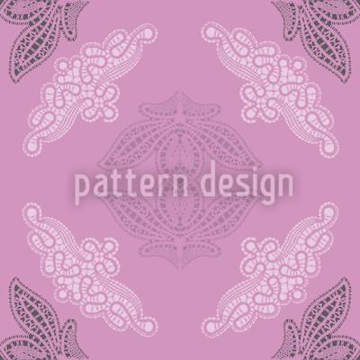 Lacy Ida Violet Vector Ornament