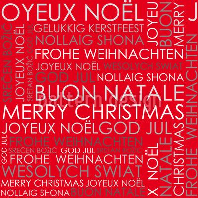 Weihnachstgrüsse Rot Rapportiertes Design