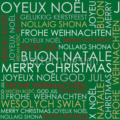 Christmas Greetings Pattern Design