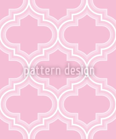 Retro Marokko Rosa Muster Design
