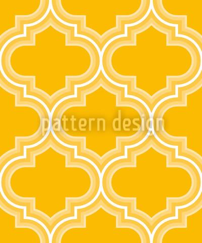 Retro Marokko Sonnengelb Musterdesign