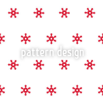 Snowflakes Red Repeating Pattern